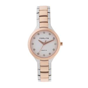 Elegant two-tone steel/rose gold time piece