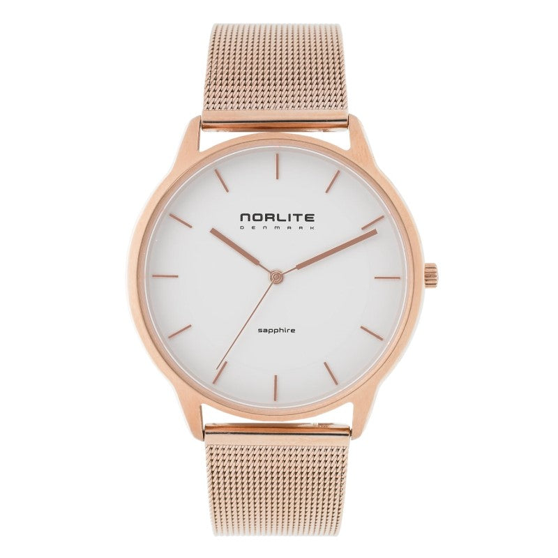 Modern Danish design men's watch with mesh band