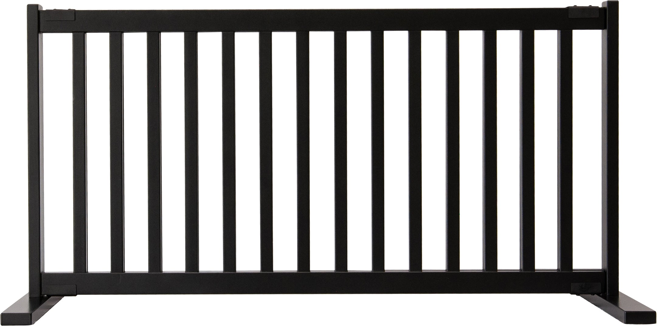 "Amish Handcrafted 20"" Tall Freestanding Pet Gate Large Black"