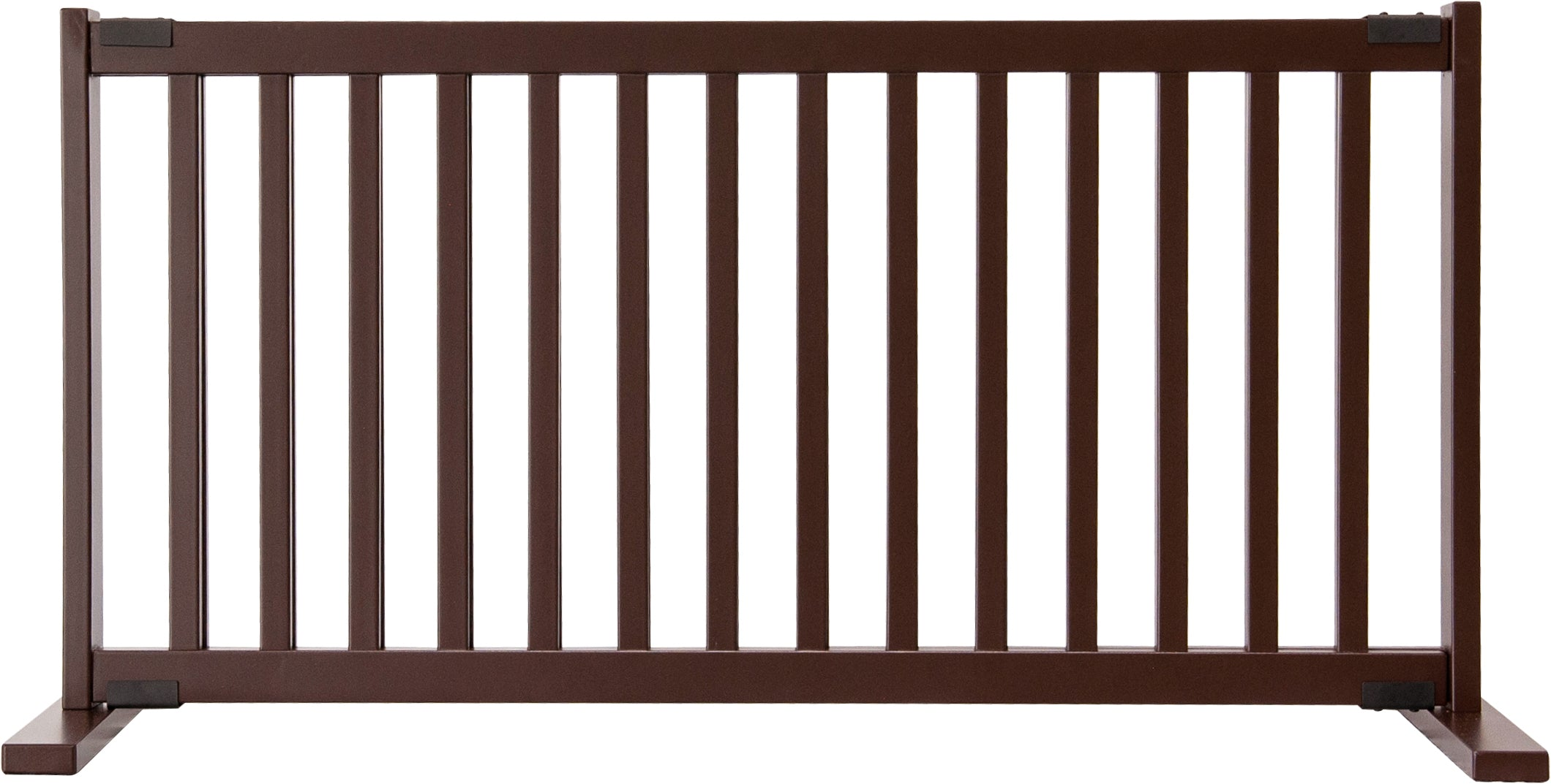 "Amish Handcrafted 20"" Tall Freestanding Pet Gate Large Mahogany"