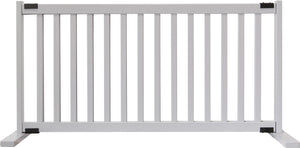 "Amish Handcrafted 20"" Tall Freestanding Pet Gate Large Pumice Grey"