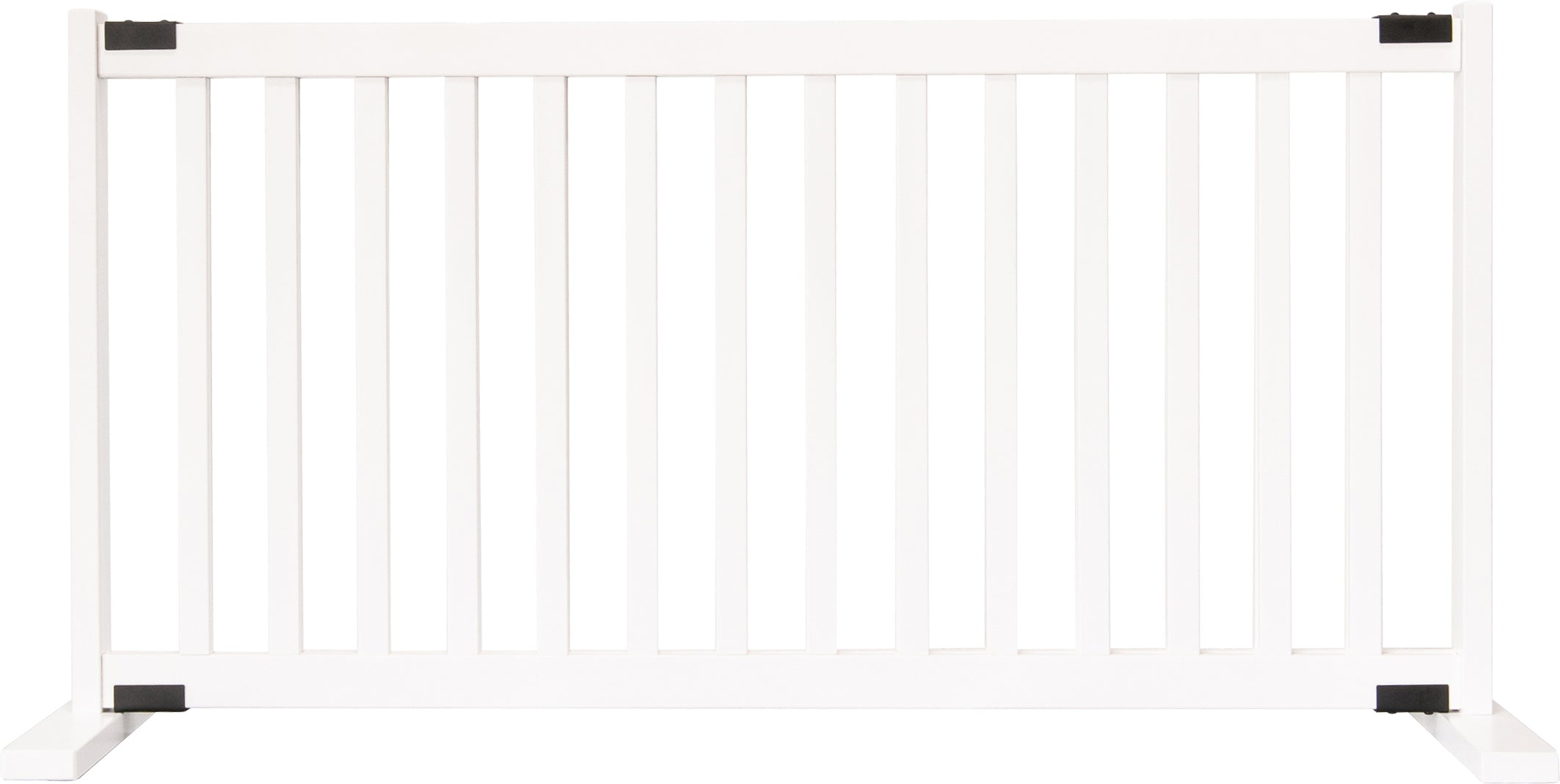 "Amish Handcrafted 20"" Tall Freestanding Pet Gate Large White"