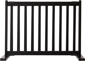 "Amish Handcrafted 20"" Tall Freestanding Pet Gate Black"