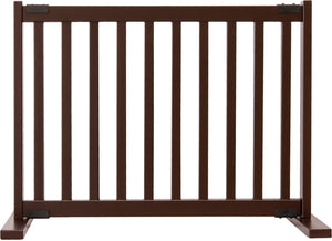 "Amish Handcrafted 20"" Tall Freestanding Pet Gate Mahogany"