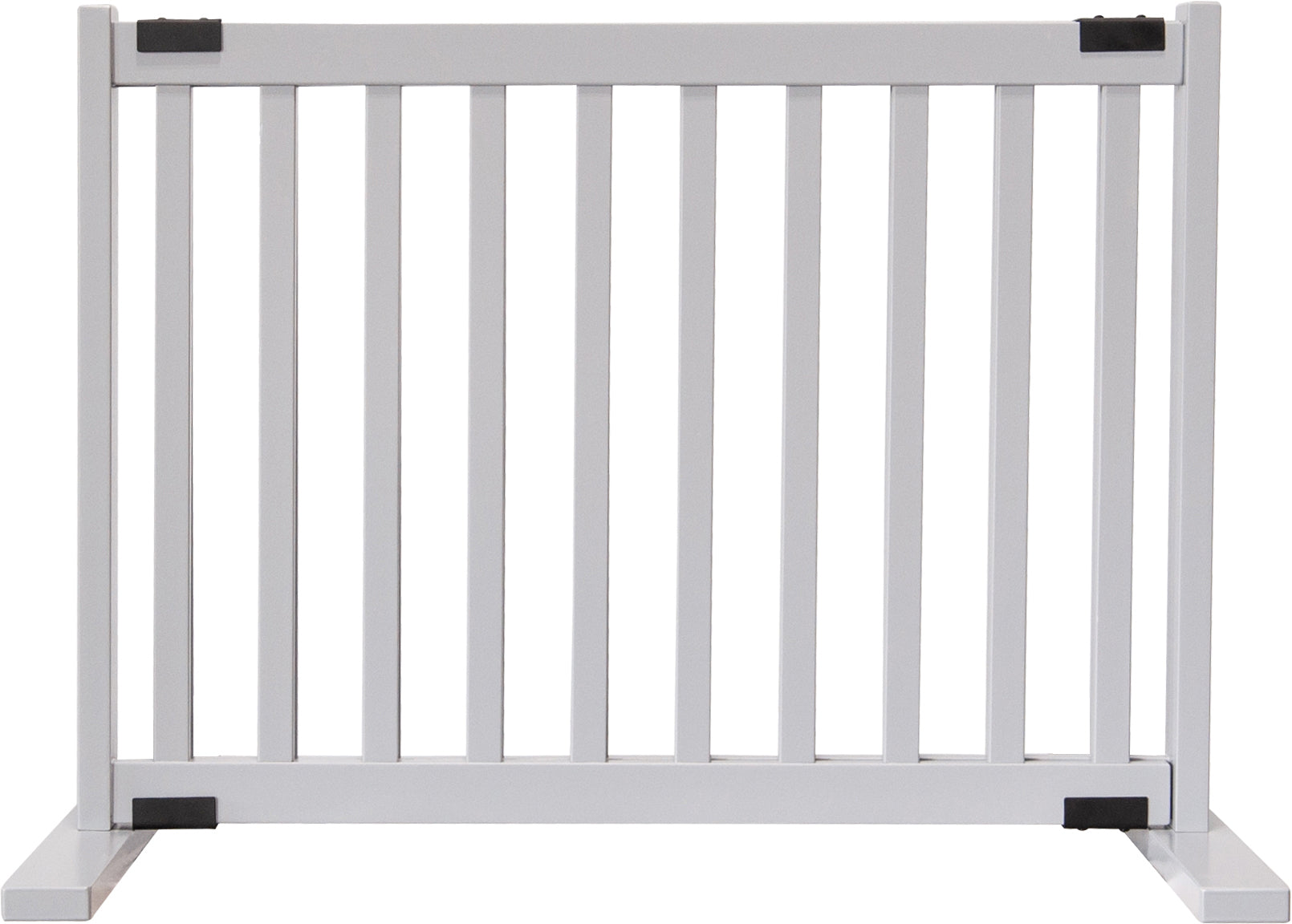 "Amish Handcrafted 20"" Tall Freestanding Pet Gate Pumice Grey"