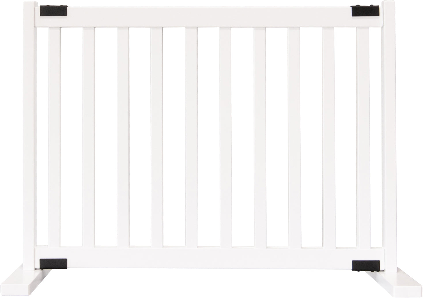 "Amish Handcrafted 20"" Tall Freestanding Pet Gate White"