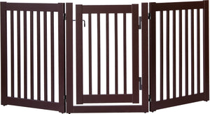 Amish Handcrafted 3 Panel Dog Gate w/Door Mahogany