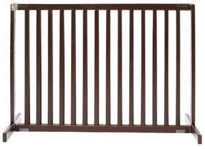 "Mahogany 30"" Freestanding Dog Gate"