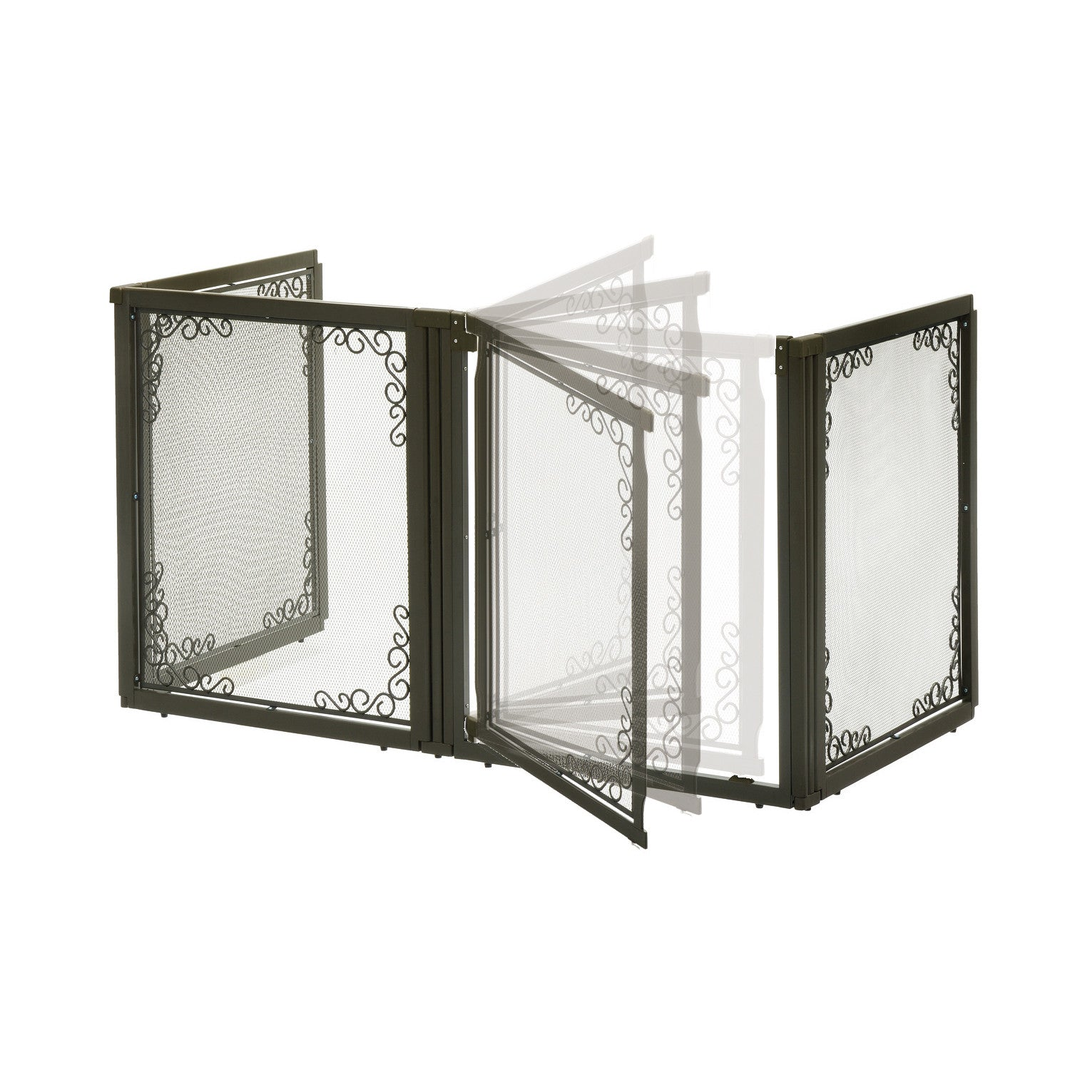 4 panel wire mesh dog gate