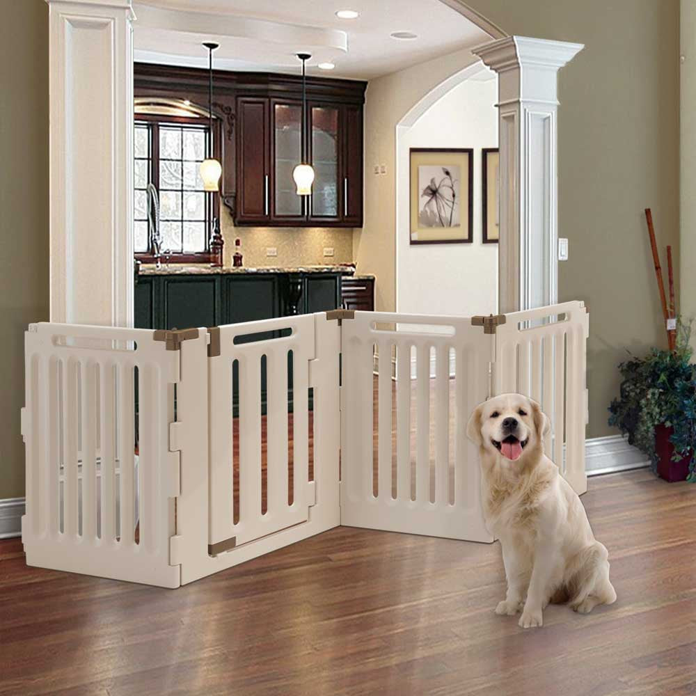 4 Panel Convertible Elite Pet Gate Plastic