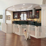 6 Panel convertible pet gate indoor outdoor