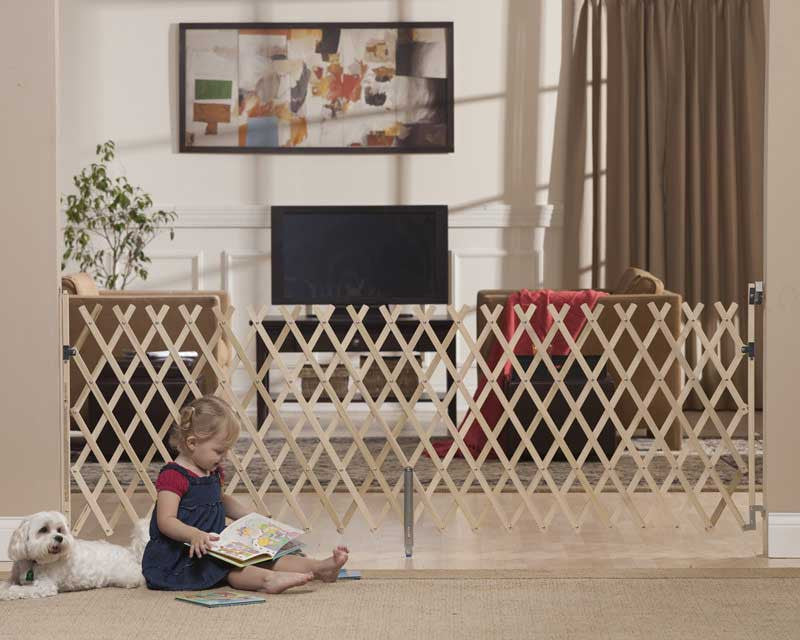 "Keepsafe 84"" Wood Expanding Pet Gate"
