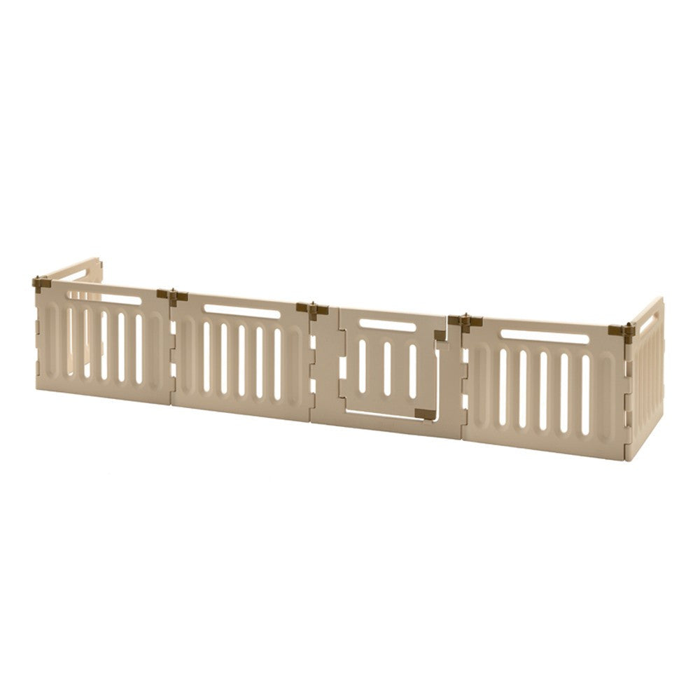 6 panel plastic dog gate in freestanding form
