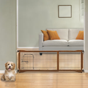dual functioning dog gate in freestanding position