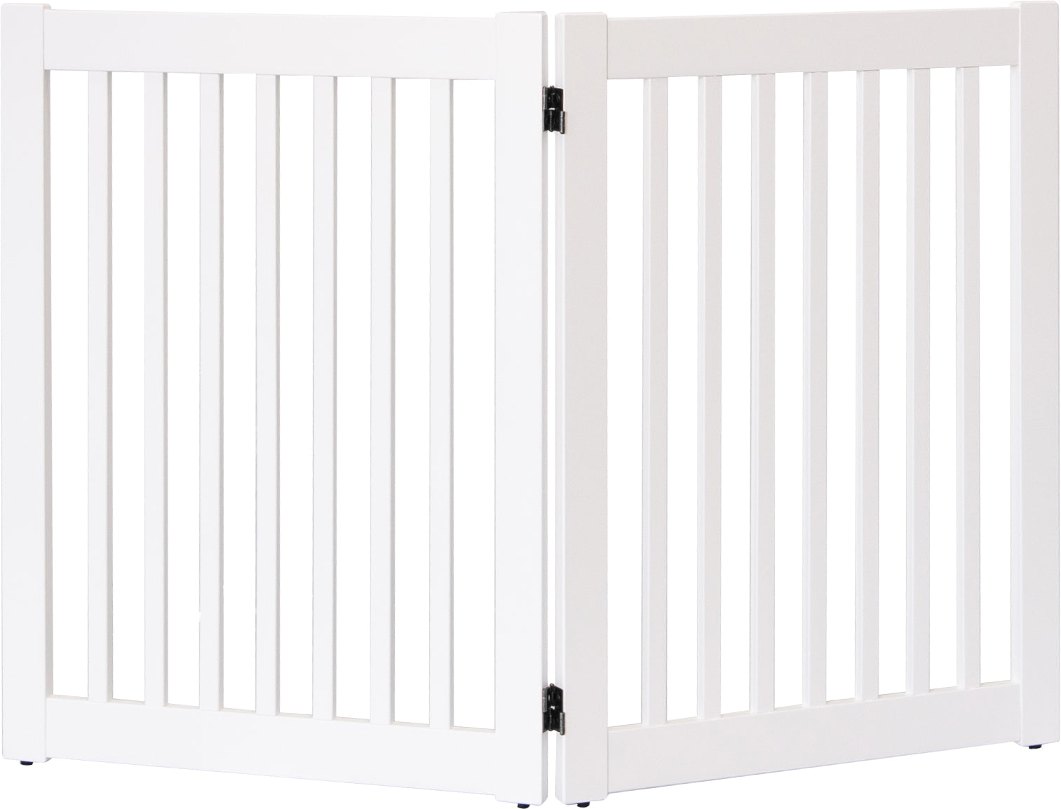 White 2 Panel Dog Gate 32 inch