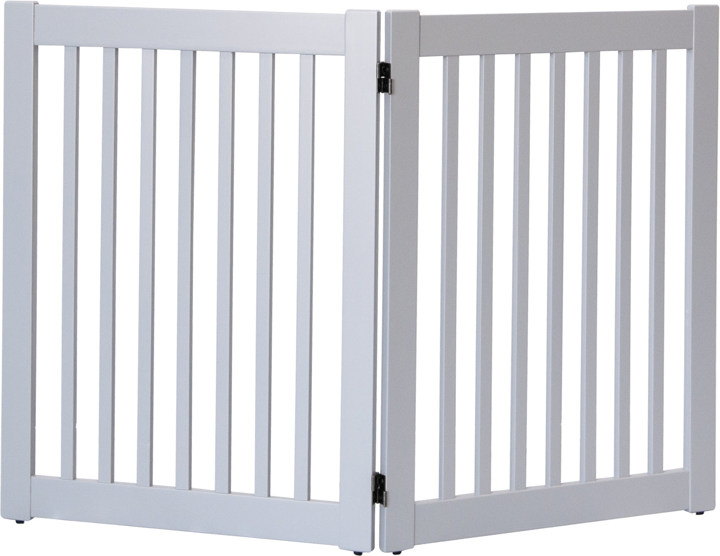 Amish Handcrafted 2 Panel Pet Gate Pumice Grey