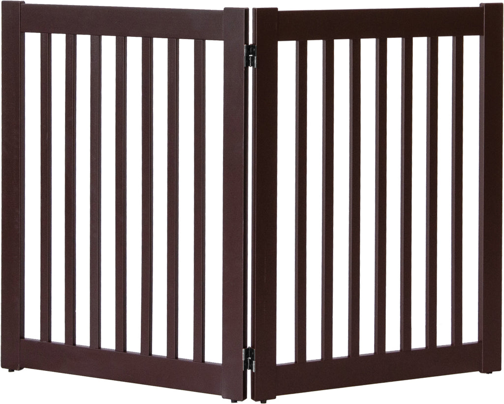 Mahogany 2 Panel Pet Gate