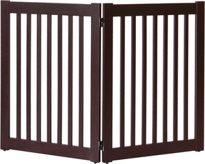 Amish Handcrafted 2 Panel Pet Gate Mahogany