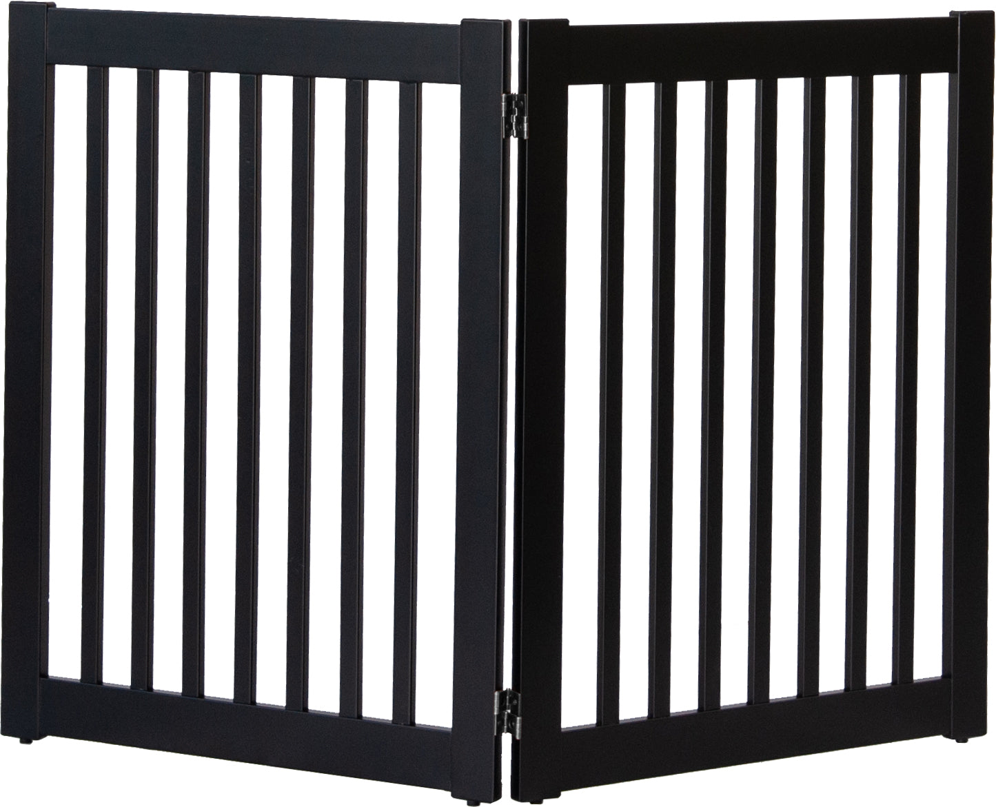 "Black 2 Panel Dog Gate 32"" inch tall"