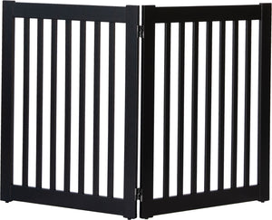 Amish Handcrafted 2 Panel Dog Gate Black