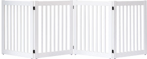 Amish Handcrafted White 4 Panel Accordion Dog Gate White