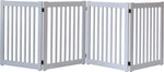 Amish Handcrafted 4 Panel Accordion Pet Gate Pumice Grey