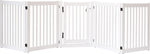Amish Handcrafted 5 Panel Accordion Pet Gate w/Door White