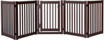 Amish Handcrafted 5 Panel Accordion Pet Gate w/Door Mahogany
