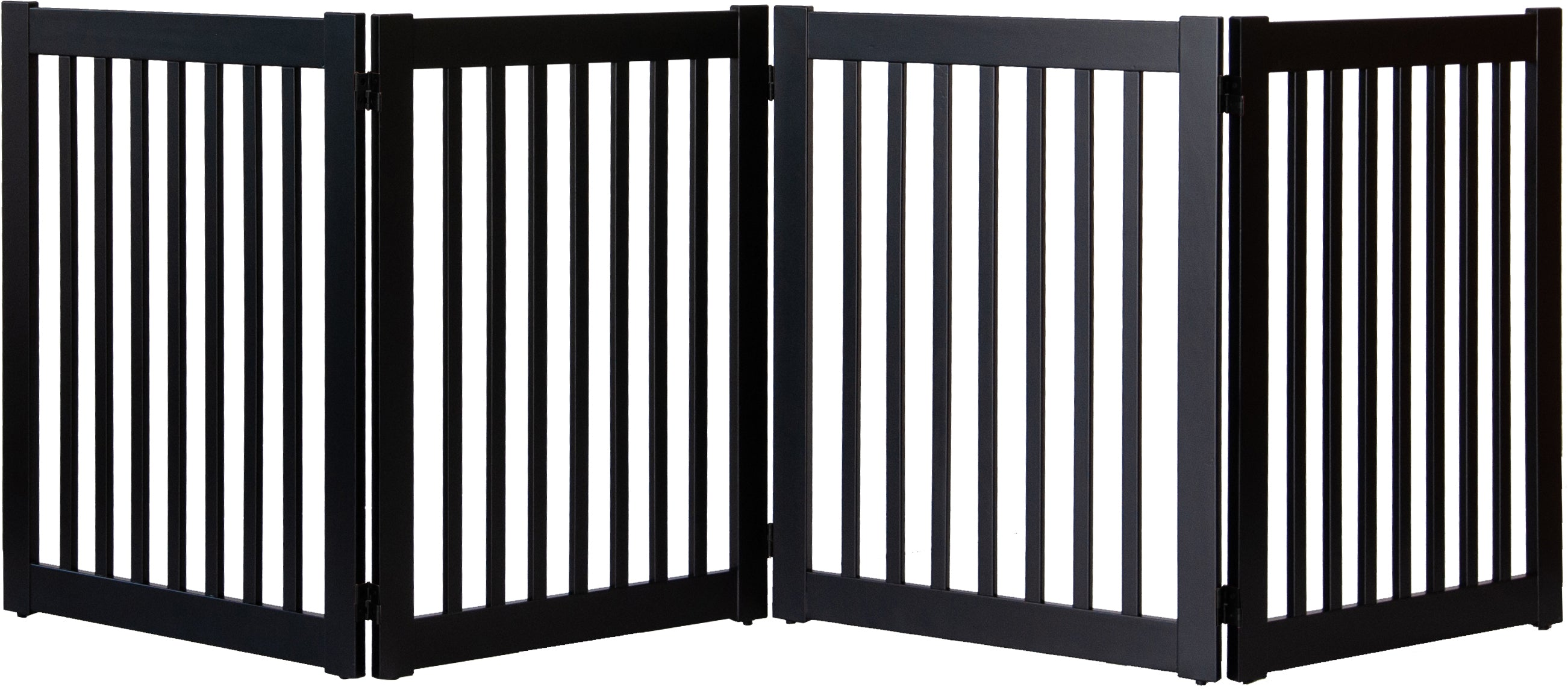 Amish Handcrafted 4 Panel Accordion Pet Gate Black