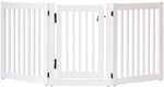 Amish Handcrafted 3 Panel Dog Gate w/Door White