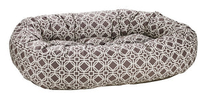 athena grey donut dog bed