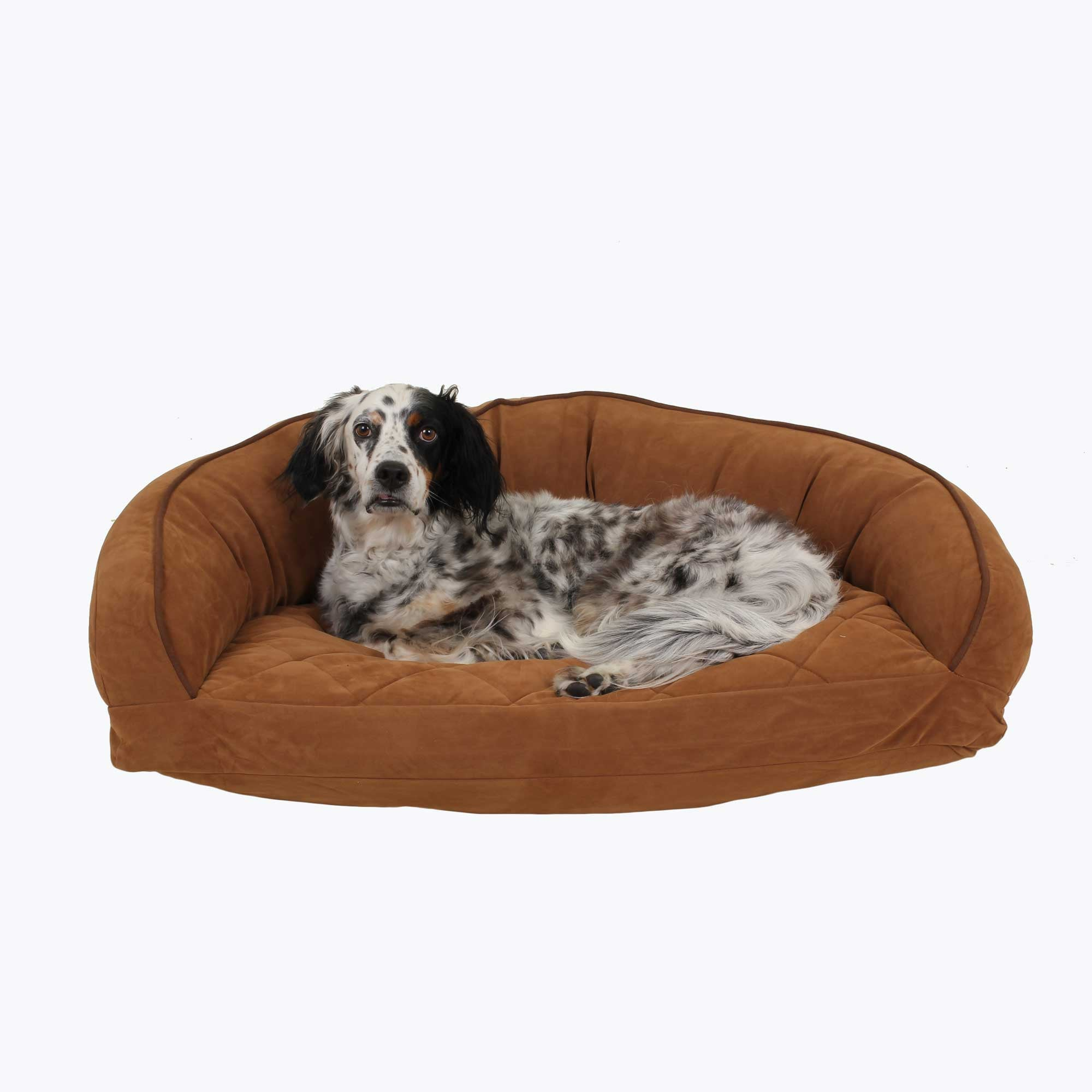Microfiber Bolster Dog Bed