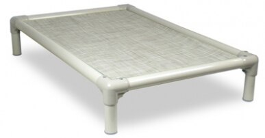 Chew Proof PVC Indoor/Outdoor Elevated Dog Bed up to 100 lbs.