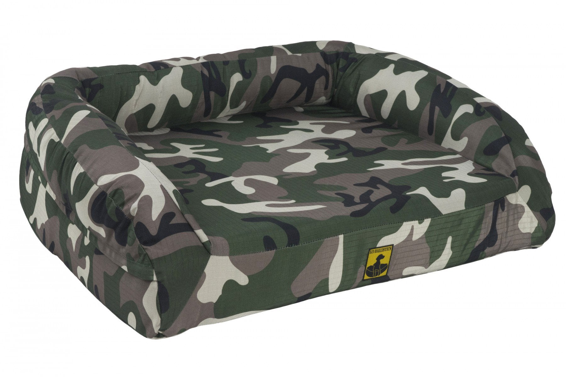 chew resistant durable tough orthopedic dog bed camo