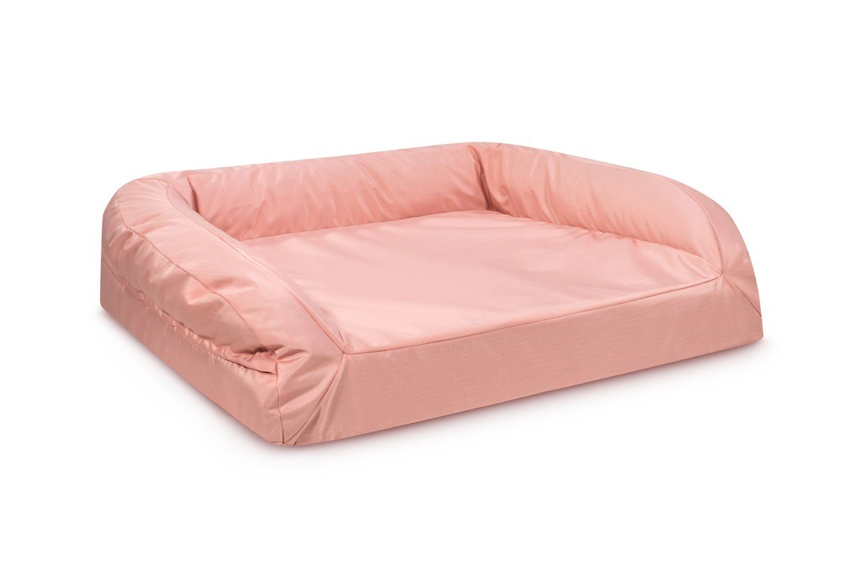 chew resistant durable tough orthopedic dog bed pink