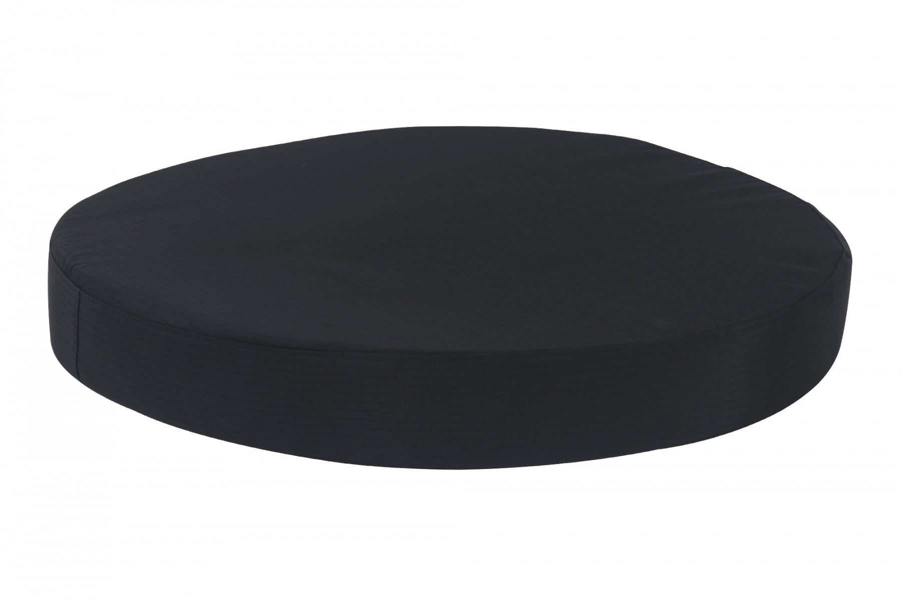 chew-resistant orthopedic round dog bed black