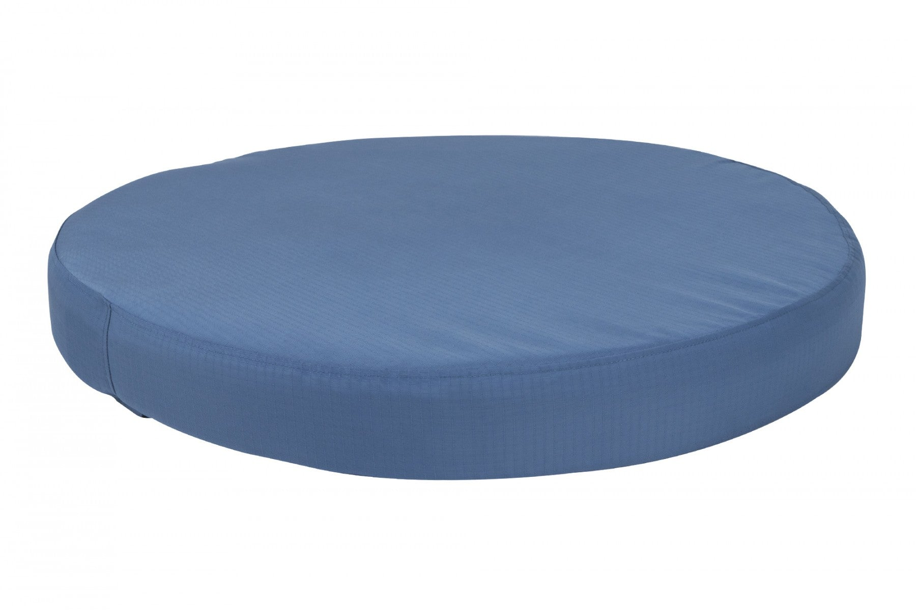 chew-resistant orthopedic round dog bed blue