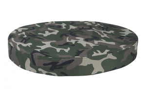 chew-resistant orthopedic round dog bed camo