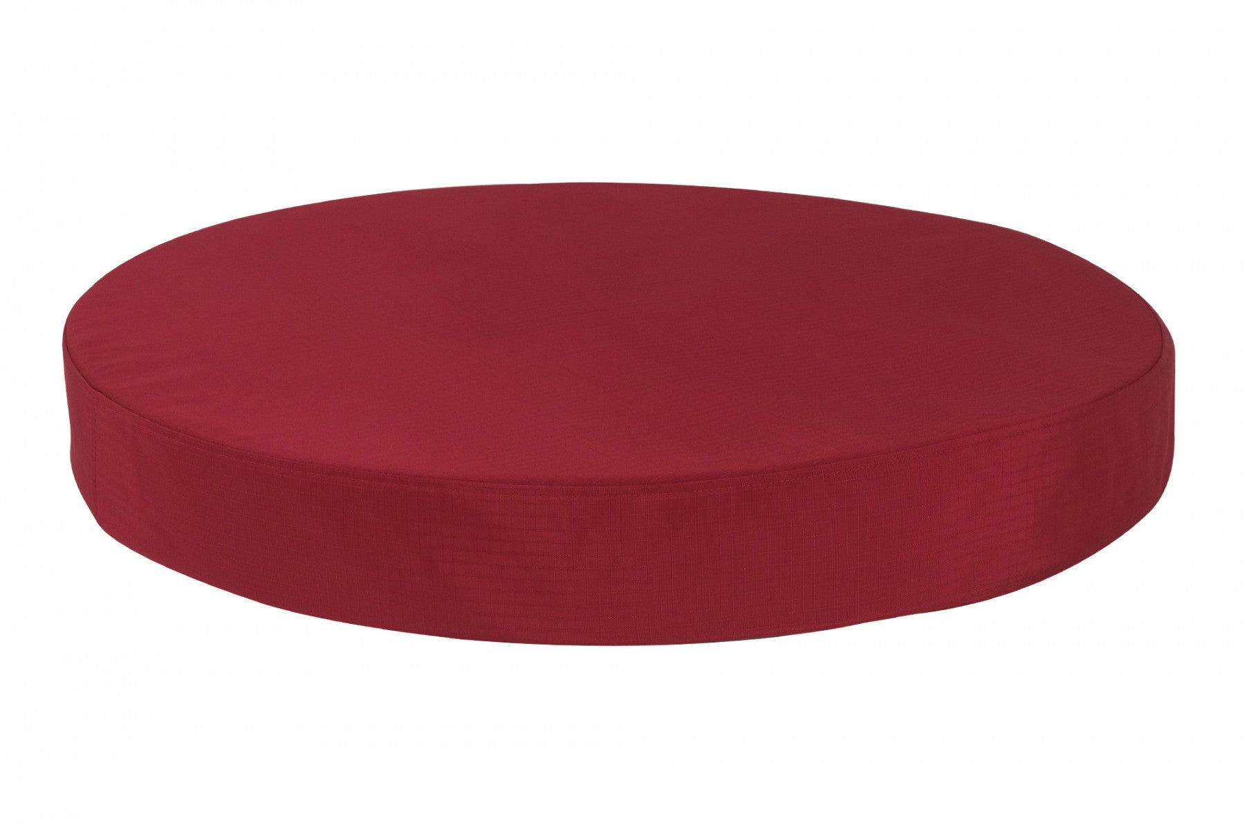 chew-resistant orthopedic round dog bed red