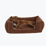 Chocolate Bolster Dog Bed