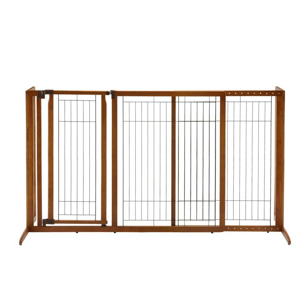 deluxe freestanding dog gate