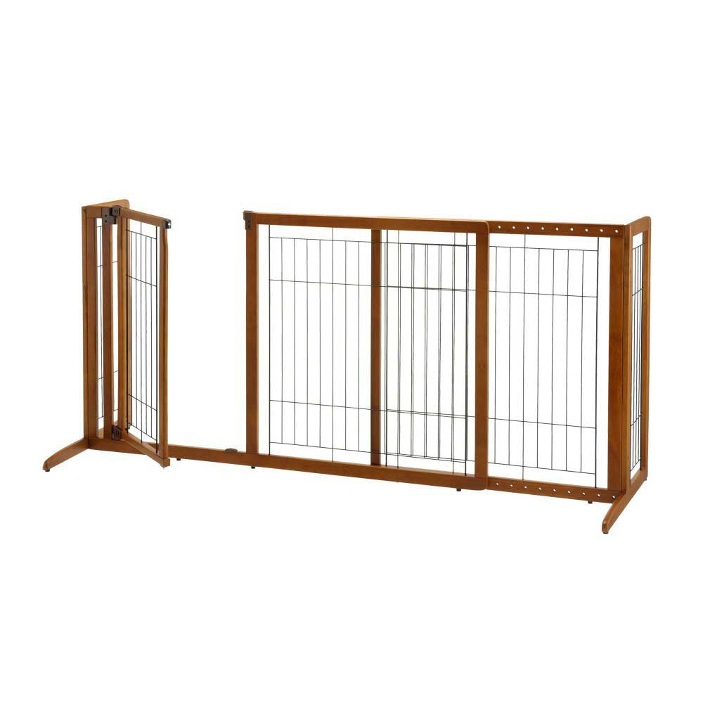 rubberwood freestanding dog gate