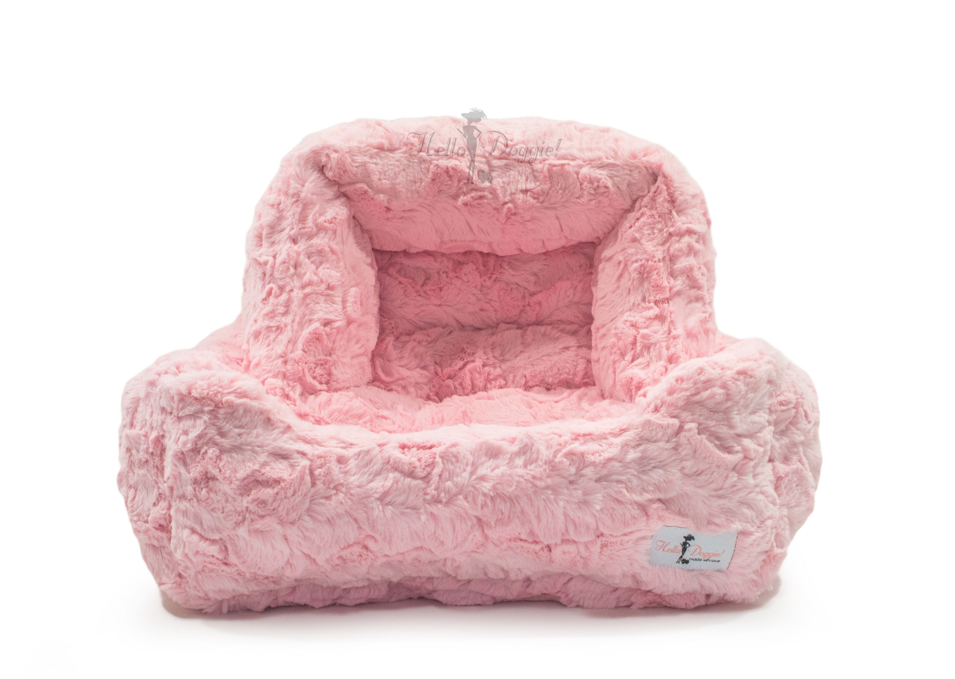 luxury soft dog bed pink color