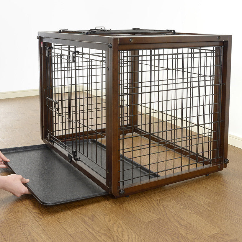 dog crate and play area