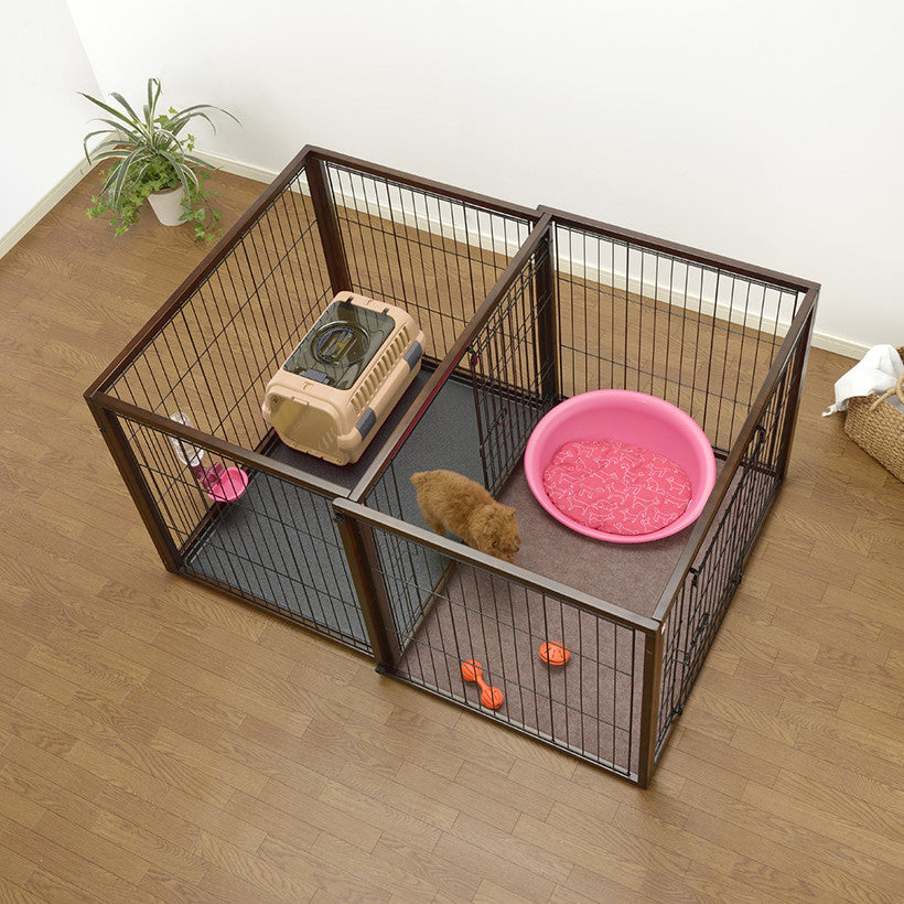 Dog crate and playpen all in one