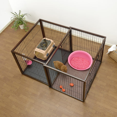 Pet Crate & Playpen-In-One
