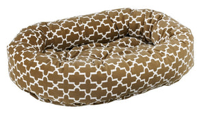 donut dog bed cedar lattice