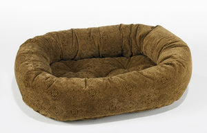 pecan filigree donut dog bed