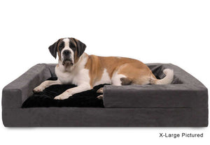 easy to clean dog bed black