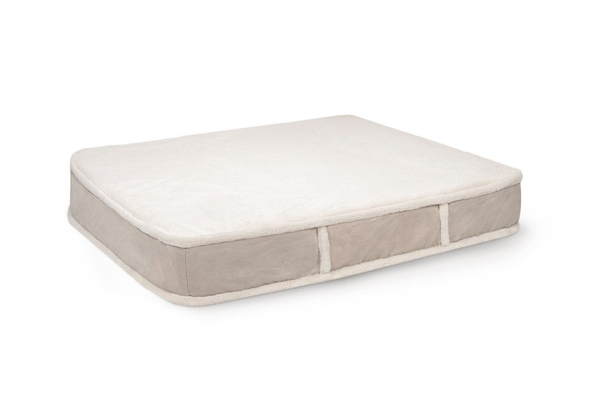 faux fur rectangle orthopedic dog bed